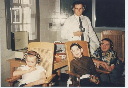 Tom Hixon with children.