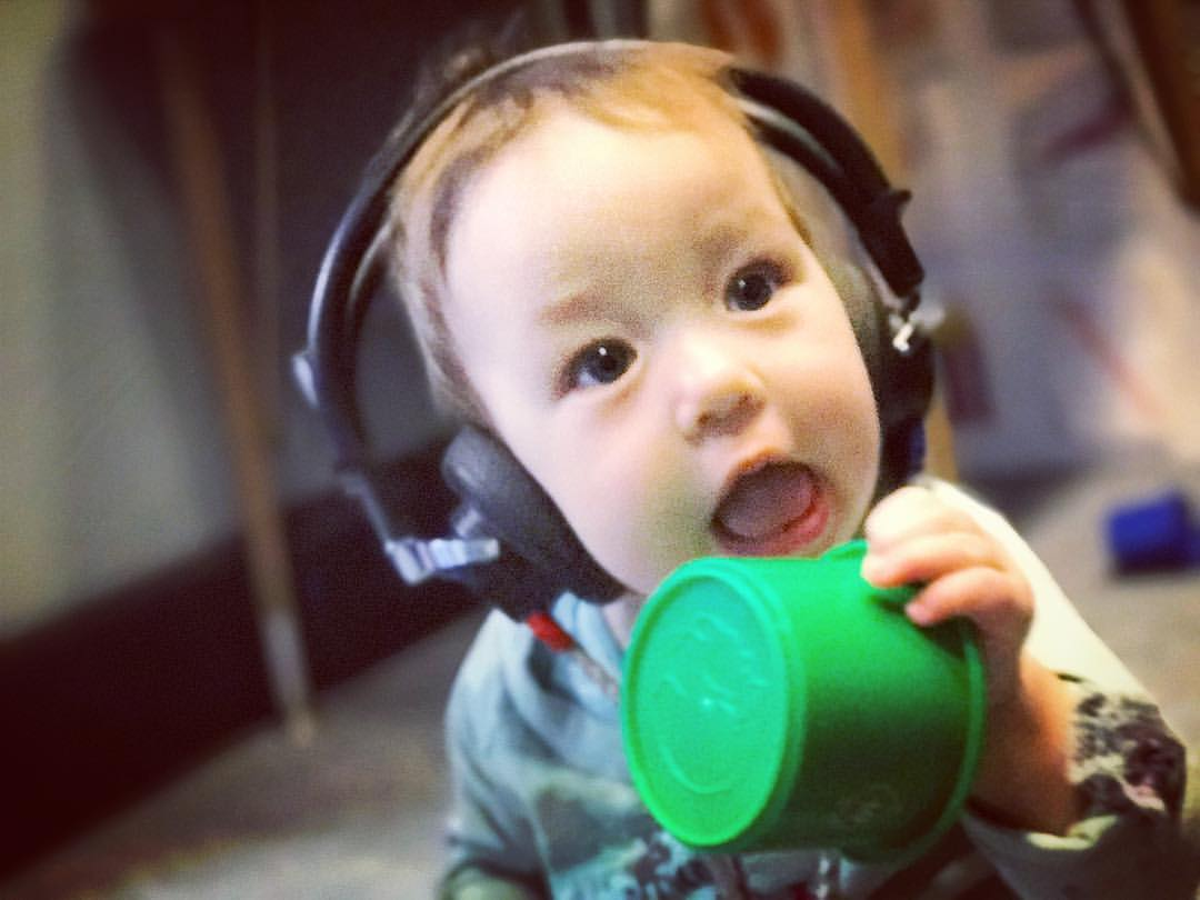 Pediatric patient demonstrates that hearing testing can be fun.