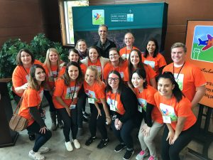 "Speech-language graduate students, undergraduates, and two clinical professors volunteered at the Dane County Regional Airport at the Wings for All event! Wings for All gives individuals with developmental disabilities a ""dress rehearsal"" of the airport and flying experience."