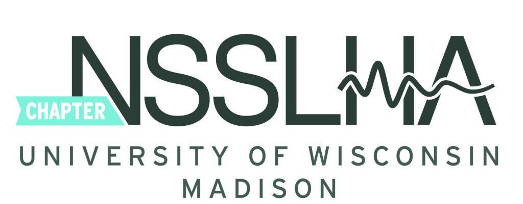 University of Wisconsin-Madison NSSLHA chapter logo