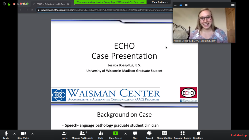 Jessica Boesflug Presents Case Study for ECHO AAC