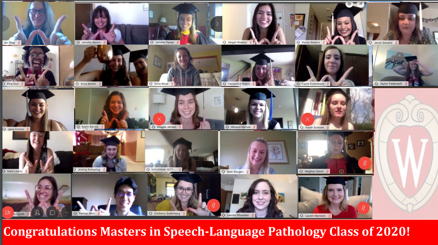 Department of Communication Sciences and Disorders 2020 Master's in Speech-Language Pathology Graduates